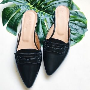 J.CREW | POINTED TOE SLIP ON | LEATHER | SHOES A3